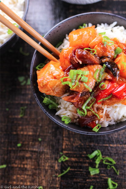 Roasted Vegetable Sweet and Sour Chicken3