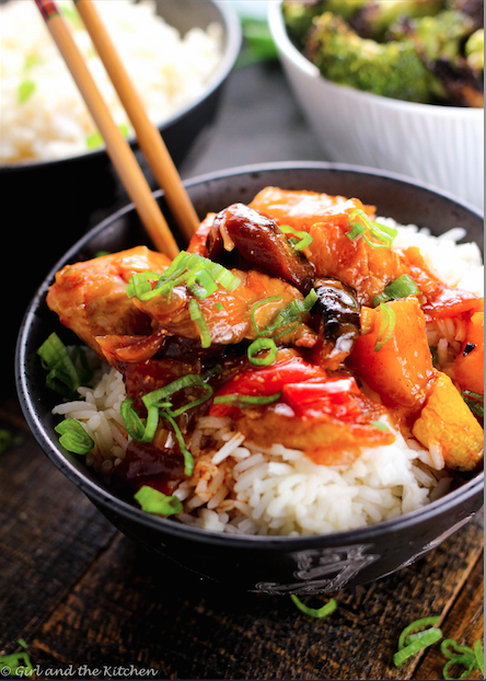 Roasted Vegetable Sweet and Sour Chicken4