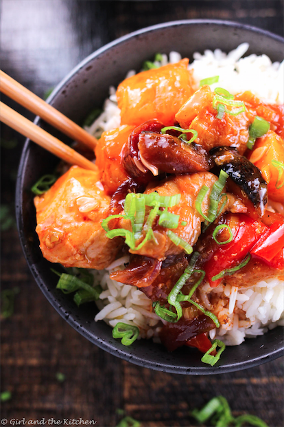 Roasted Vegetable Sweet and Sour Chicken5